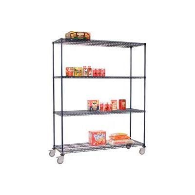 Nexelon™ Wire Shelf Truck 36x18x80 1200 Lb. Capacity