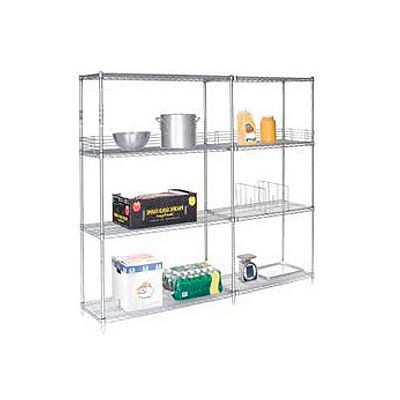"Nexel® Poly-Z-Brite® Wire Shelving Add-On 54""W x 21""D x 86""H"