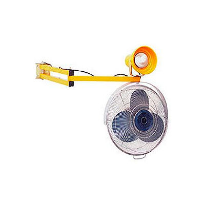 """Double Arm Dock Fan and Dock Light with 40"""" L Reach"""