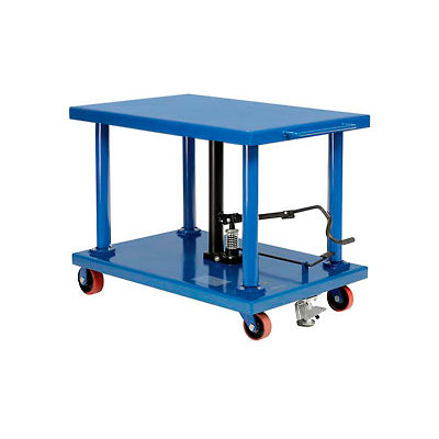 Work Positioning Post Lift Table Foot Control 6000 Lb. Capacity