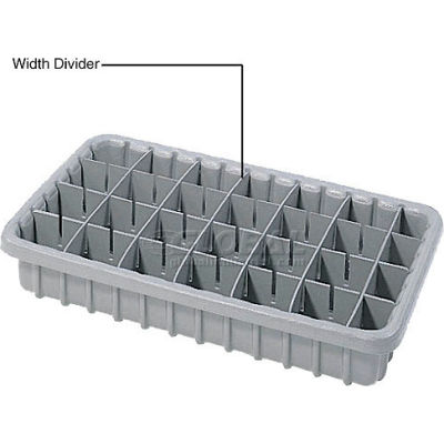Dandux Width Divider 50P0010037 for Dividable Nesting Box 50P1811040, Gray