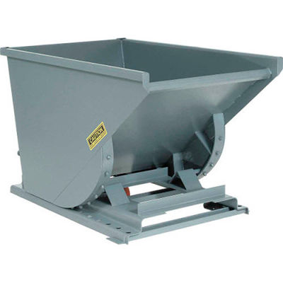 Global Industrial™ Medium-Duty Self Dumping Forklift Hopper, 1 Cu. Yd., 4000 Lbs, Gray