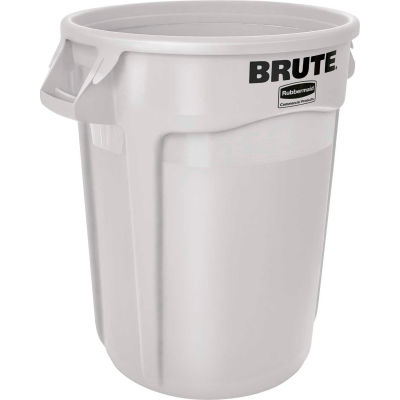 Rubbermaid Brute® 2632 Trash Container w/Venting Channels 32 Gallon - White