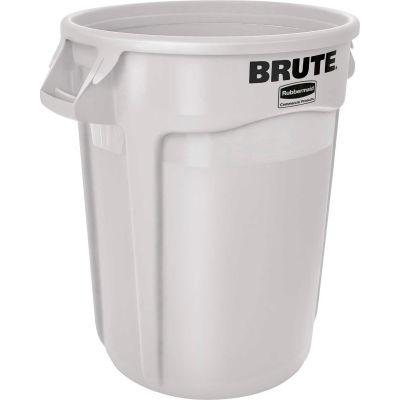 Rubbermaid Brute® 1779740 Trash Container w/Venting Channels, 44 Gallon - White