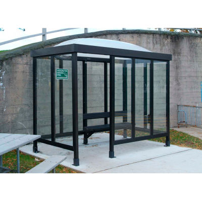 Smoking Shelter Dome Roof Four Sided With Left Front Opening 10' x 5'