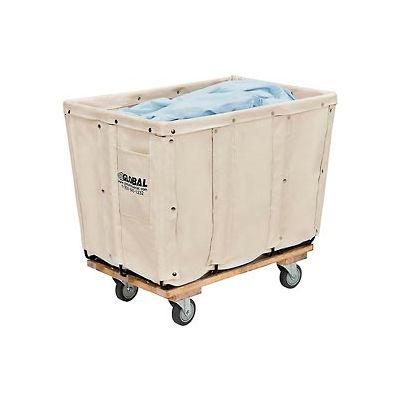 Global Industrial™ Canvas Basket Truck, 8 Bushel Capacity, Assembled