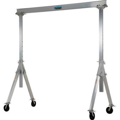 Aluminum Gantry Crane AHA-4-8-12 Adjustable Height - 4,000 lb. Capacity