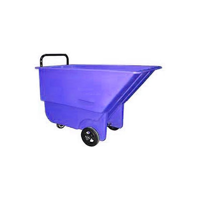 Bayhead Products Blue Light Duty 1/3 Cubic Yard Tilt Truck 275 Lb. Capacity
