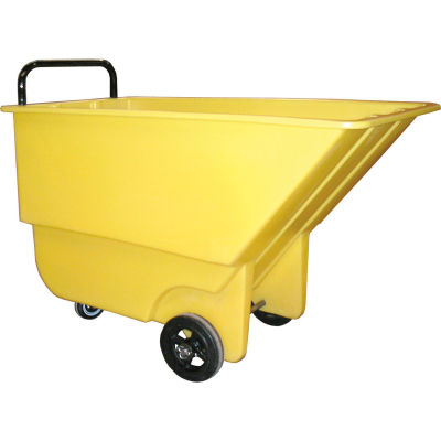 Bayhead Products Yellow Light Duty 1/3 Cubic Yard Tilt Truck 275 Lb. Capacity
