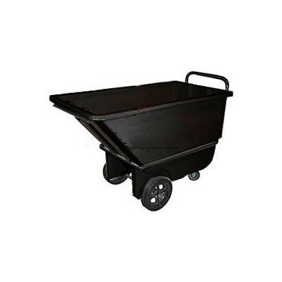Bayhead Products Black Heavy Duty 1/3 Cubic Yard Tilt Truck 1200 Lb. Capacity