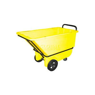 Bayhead Products Heavy Duty Plastic Tilt Truck, 1/3 Cu. Yd. Cap, 1200 Lbs. Cap, Yellow