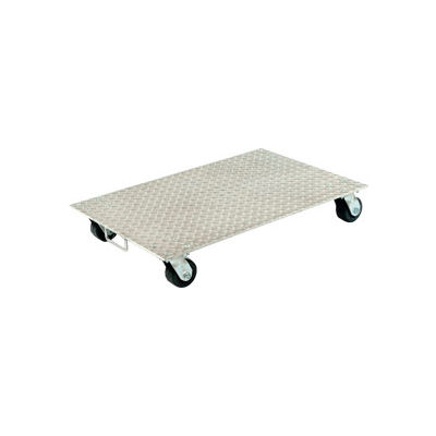 "Aluminum Dolly PDA-2436-C-S-H 36""L x 24""W with Solid Deck & Steel Wheels"