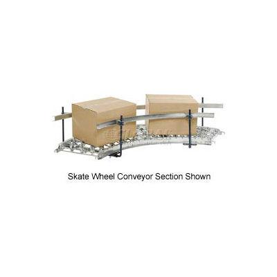 Steel Guard Rail Kit (Pair) for Omni Metalcraft 90 Degree Curved Roller Conveyor