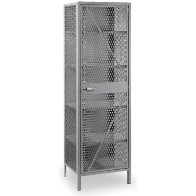 "Lyon Welded Mesh Storage Locker DD1130 - 24""X21""X78"""