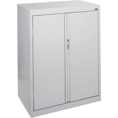 Sandusky System Series Counter Height Storage Cabinet HF2F301842 - 30x18x42, Gray