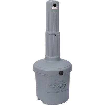 Global Industrial™ Gray Outdoor Ashtray - 5 Gallon