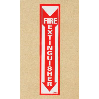 Fire Extinguisher Sign - Vertical - Vinyl