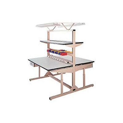 "Pro-Line 48""W x 30""D FL4830PLD Flex-Line Dual Sided Workbench - Plastic Laminate Top"