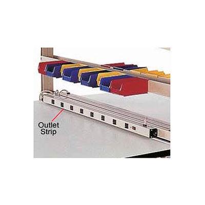"""Pro-Line Power Strip W/ 8 Outlets & 6' Long Cord, 60""""W, Tan"""