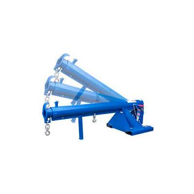 "Adjustable Pivoting Forklift Jib Boom Crane LM-OBT-6-24 6000 Lb. 24"" Centers"
