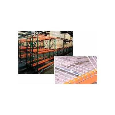 "Husky Rack & Wire 184209643096DS Tear Drop Pallet Rack With Wire Deck - 96""W x 42""D x 96""H"