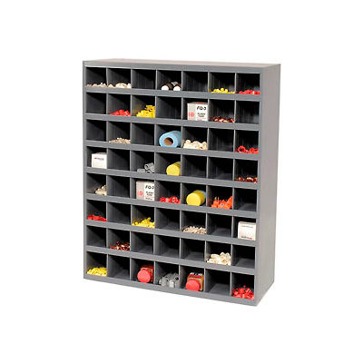 Durham Steel Storage Parts Bin Cabinet 361-95 Open Front - 56 Compartments