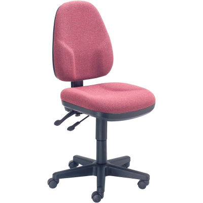 Interion® Multifunction Office Chair - Fabric - Burgundy