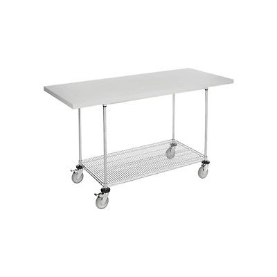 Mobile Work Bench Wire Shelf 72 Quot W X 30 Quot D Mobile