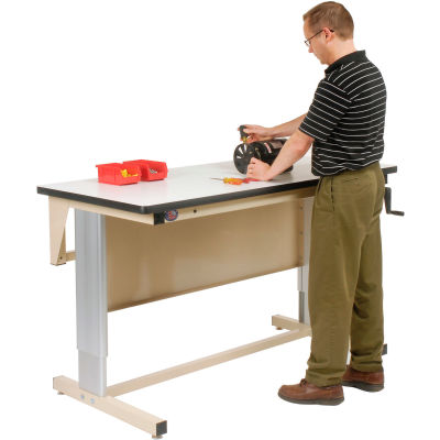 Pro-Line 60 X 30 EL6030PL-H11 Ergoline Hand Crank Height Adjustable Workbench Plastic Laminate Top