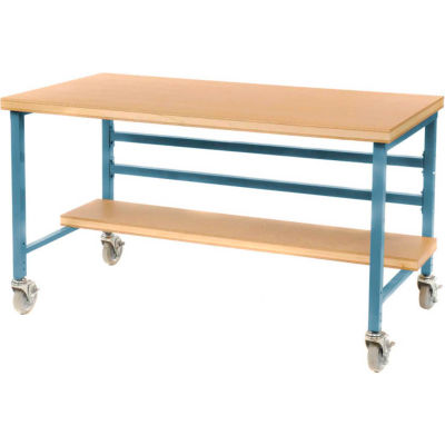 "Mobile 72"" X 36"" Shop Top Workbench - Blue"