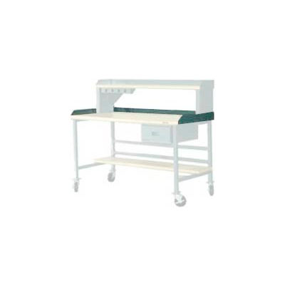 """72""""W X 36""""D Back & End Stops - Gray"""