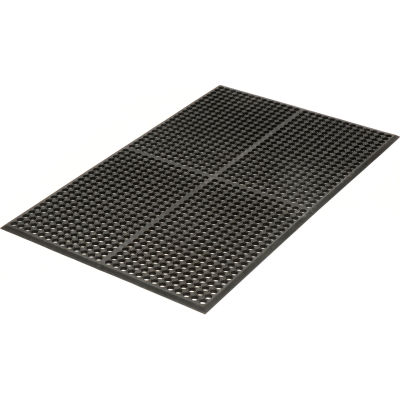 "Apache Mills WorkStep™ Anti Fatigue Drainage Mat 1/2"" Thick 3' x 5' Black"