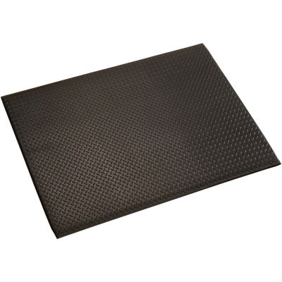 """Diamond Plate Mat, 1/2"""" Thick 36""""W Cut Length 1Ft Up To 60Ft, Black"""