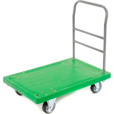 Best Value Plastic Deck Flatbed Platform Truck 36 x 24 1000 Lb. Capacity