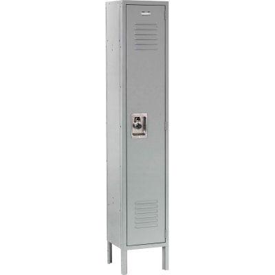 Infinity™ Locker Single Tier 12x18x60 1 Door Ready To Assemble Gray