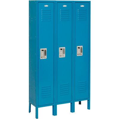 Infinity™ Locker Single Tier 12x18x60 3 Door Ready To Assemble Blue