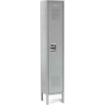 Infinity™ Locker Single Tier 12x12x72 1 Door Ready To Assemble Gray