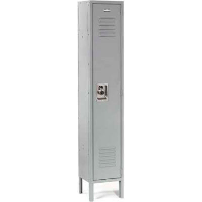 Infinity™ Locker Single Tier 15x18x72 1 Door Ready To Assemble Gray
