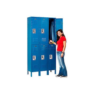 Infinity™ Locker Double Tier 12x18x36 6 Door Ready To Assemble Blue
