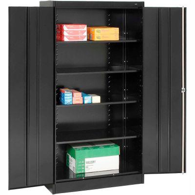 Tennsco Metal Storage Cabinet 1470-BLK - 36x18x72 Black