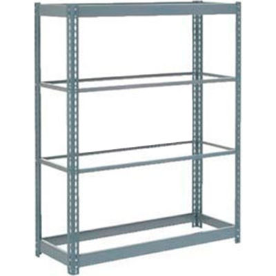 """Global Industrial™ Heavy Duty Shelving 48""""W x 12""""D x 60""""H With 4 Shelves - No Deck - Gray"""