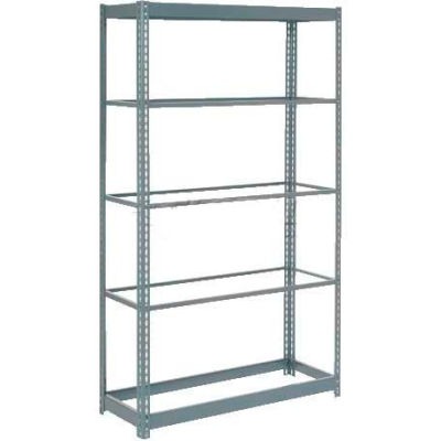 """Heavy Duty Shelving 36""""W x 12""""D x 96""""H With 5 Shelves - No Deck - Gray"""