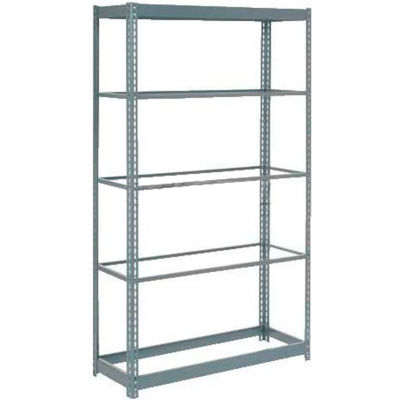 """Heavy Duty Shelving 48""""W x 12""""D x 84""""H With 5 Shelves - No Deck - Gray"""