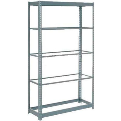 """Heavy Duty Shelving 48""""W x 12""""D x 96""""H With 5 Shelves - No Deck - Gray"""