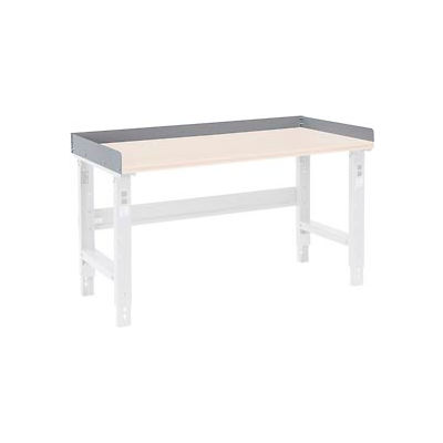 """Back and End Stops For Workbench Top - 48""""W x 36""""D x 3""""H - Gray"""