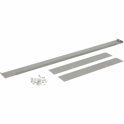 """Back and End Stops For Workbench Top - 60""""W x 30""""D x 3""""H - Gray"""