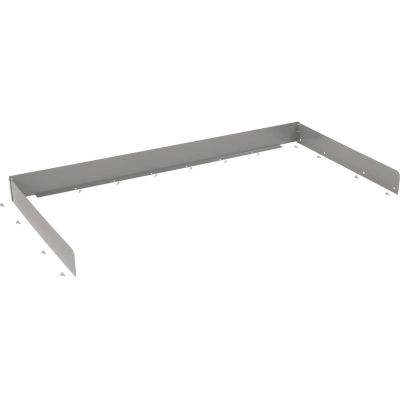 """Back and End Stops For Workbench Top - 72""""W x 30""""D x 3""""H - Gray"""