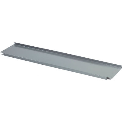 """Lower Shelf Steel With 2"""" Back Stop for Workbench - 72""""W x 15""""D - Gray"""
