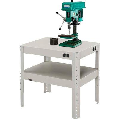 "Global Industrial™ 24""W x 18""D x 18"" to 24""H Adjustable Height Shop Stand - 16 Gauge Steel"
