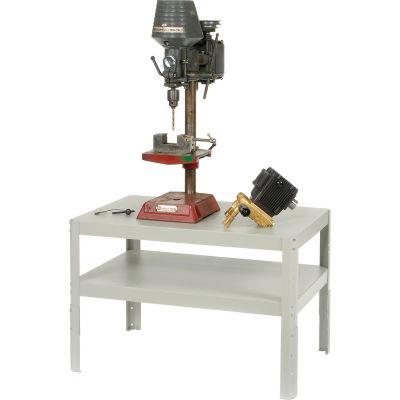 "24""W x 18""D x 30"" to 36""H Adjustable Height Shop Stand - 16 Gauge Steel"
